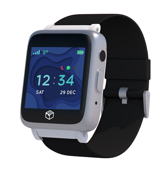 Black 4G GPS Wrist watch for Seniors and Assisted Living