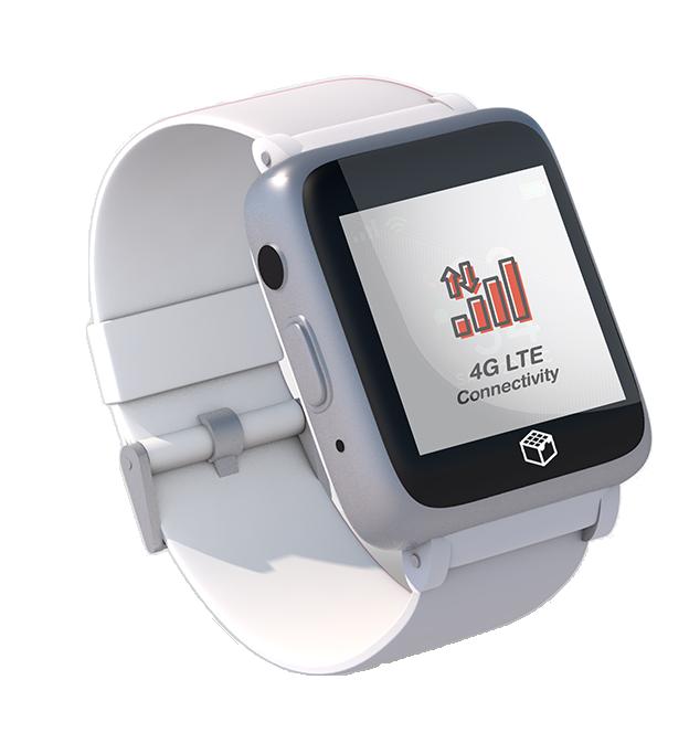 iGPS Phoenix 4G Wearable White Seniors Smart Watch