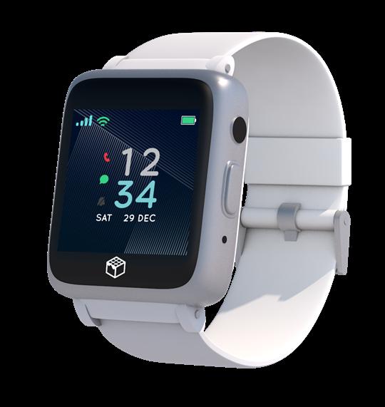 White 4G Phoenix GPS Watch for Seniors and Elederly