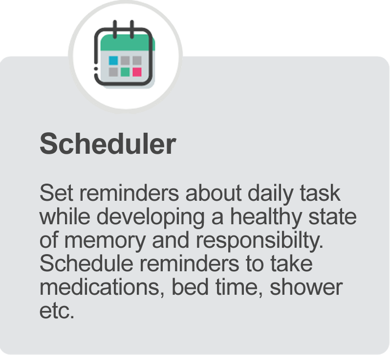 Phoenix 4G Smart Watch Scheduler Feature for setting reminders