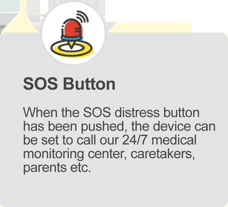 SOS emergency call feature iGPS Phoenix Watch