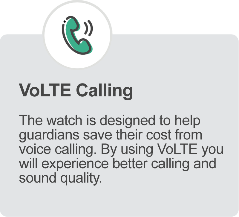 VoLTE Calling Feature for iGPS 4G Phoenix Watch for Elderly and Assisted Living
