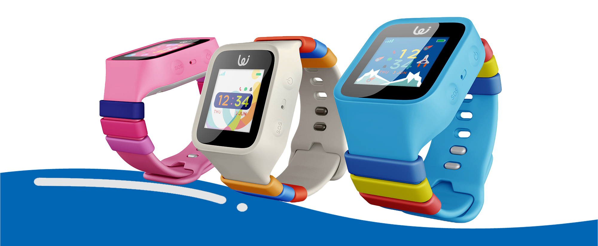 Wizard GPS Watch for Children Pink Blue White