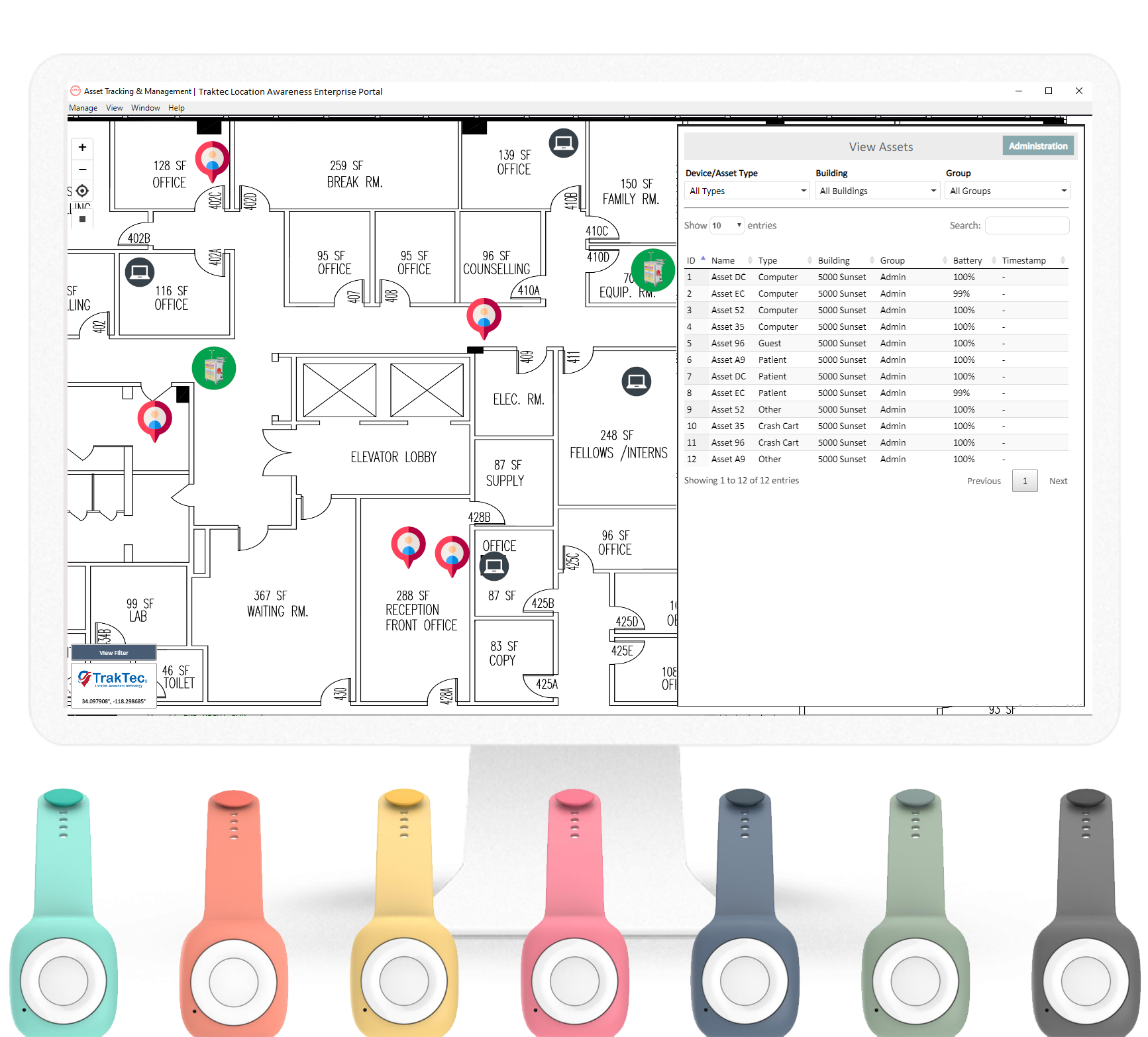 TrakTec Location Awareness Technology RF Bluetooth Software Integartion