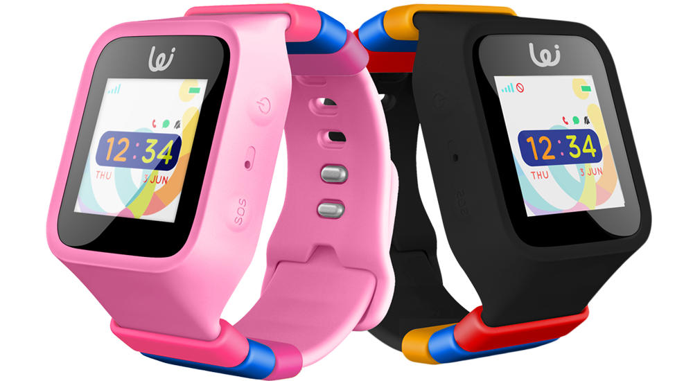 iGPS Childrens GPS smart watch wearable Pink and Black