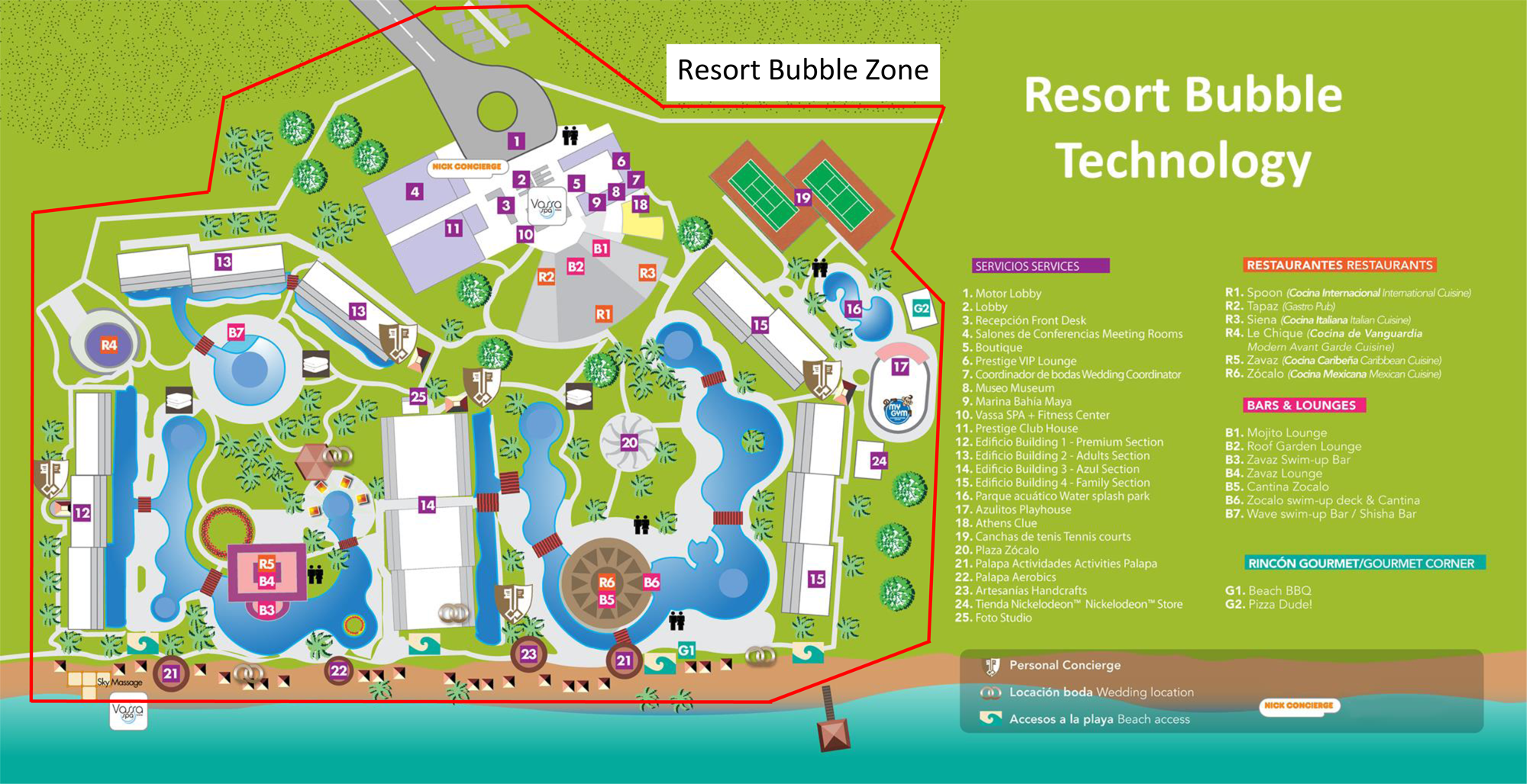 Resort Bubble TrakTec Safety Zone Alerts